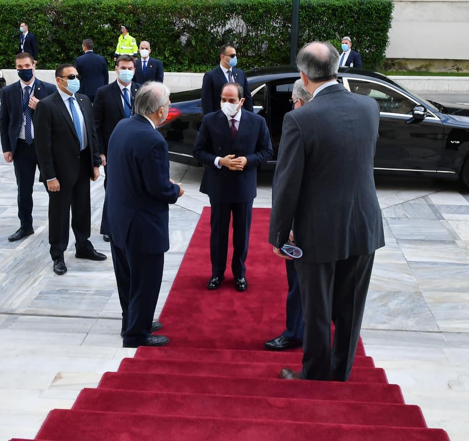 قام السيد الرئيس عبد الفتاح السيسي اليوم بزيارة لمقر البرلمان اليوناني،