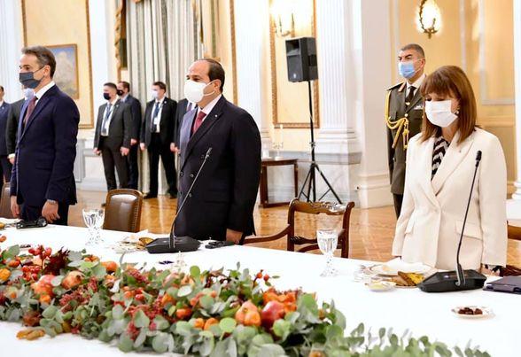كلمة السيد الرئيس عبد الفتاح السيسي في مستهل مأدبة العشاء الرسمي الذي اقامته السيدة رئيسة اليونان تكريماً لسيادته بالقصر الجمهوري بالعاصمة اثينا.