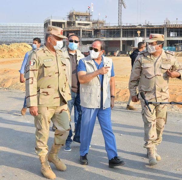 """السيد الرئيس عبد الفتاح السيسي يتفقد بعد ظهر اليوم """"مدينة مصر الدولية للالعاب الاوليمبية بالعاصمة الادارية الجديدة""""."""