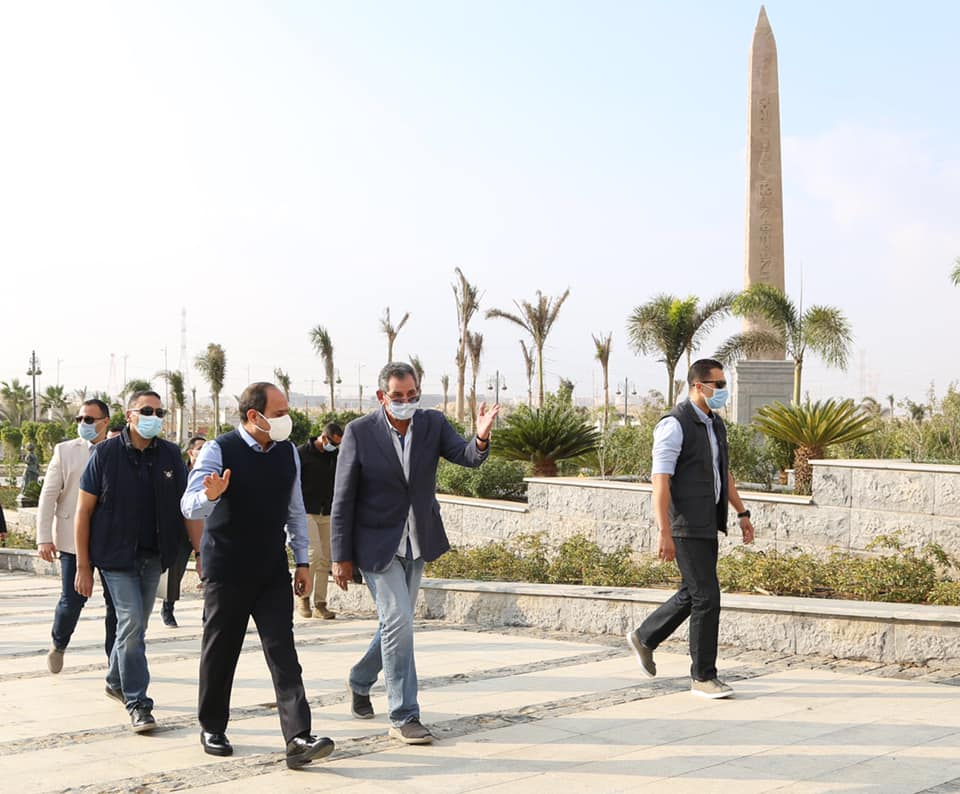 السيد الرئيس يتفقد بالعاصمة الادارية الجديدة أكبر مدينة فنية وثقافية بالشرق الأوسط.