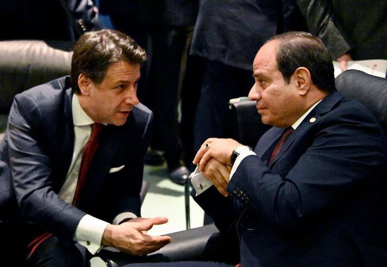السيد الرئيس يبحث مع رئيس الوزراء الإيطالي العلاقات العسكرية والاقتصادية بين البلدين