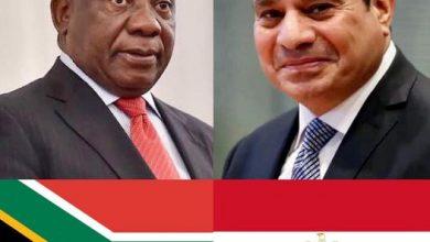 Photo of السيد الرئيس يبحث مع رئيس جنوب افريقيا بعض القضايا الافريقية، والعلاقات الثنائية  بين البلدين.