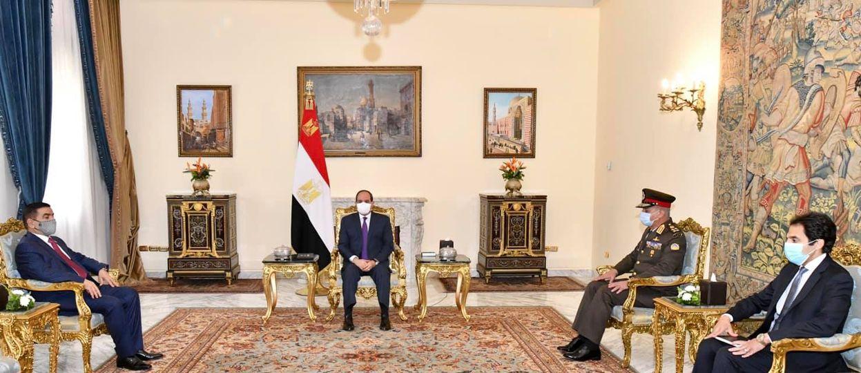 استقبل السيد الرئيس عبد الفتاح السيسي اليوم السيد الفريق جمعة عناد سعدون، وزير دفاع جمهورية العراق، وذلك بحضور الفريق أول محمد زكى وزير الدفاع والإنتاج الحربي.