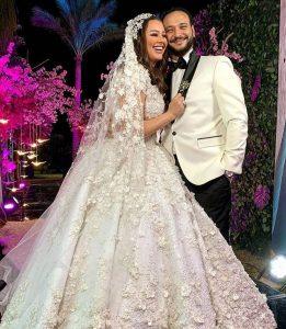 حفل زفاف هنادي مهني وأحمد خالد صالح بحضور مجموهة كبيرة كم نجوم الفن