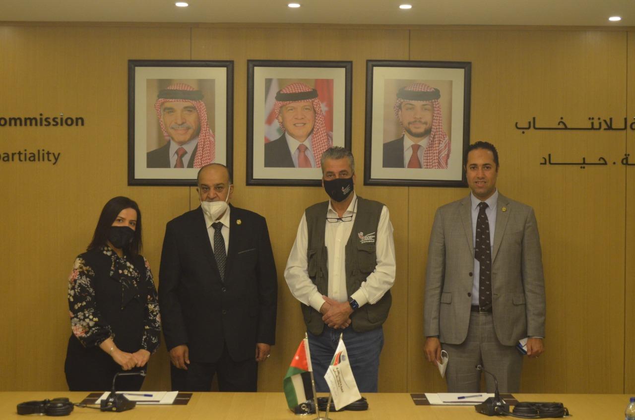 رئيس وفد البرلمان العربي يلتقي رئيس الهيئة المستقلة للانتخابات بالمملكة الأردنية الهاشمية