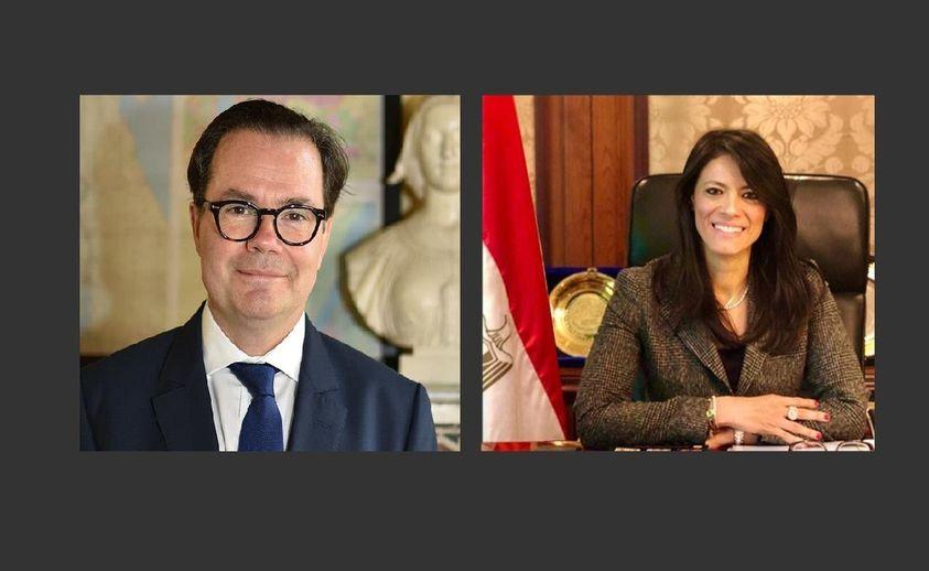 وزيرة التعاون الدولي تبحث مع السفير الفرنسي بالقاهرة تعزيز العلاقات الاقتصادية ودعم أجندة التنمية الوطنية