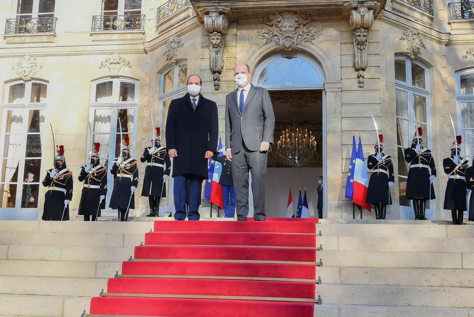 """""""التقى السيد الرئيس عبد الفتاح السيسى اليوم في باريس مع السيد جان كاستيكس رئيس وزراء فرنسا، وذلك بمقر رئاسة الوزراء الفرنسية""""."""