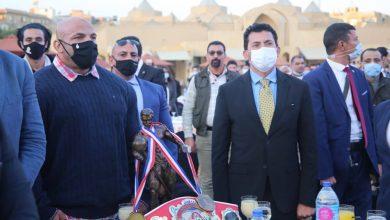 Photo of وزير الرياضة يشهد المؤتمر الصحفى العالمى لـ«البيج رامى» فى الأهرامات