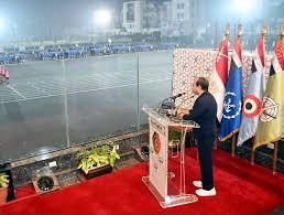 """Photo of """"السيد الرئيس عبد الفتاح السيسي يتفقد الكلية الحربية فجر اليوم""""."""