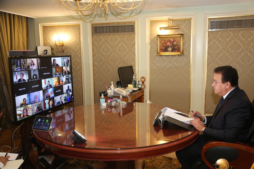 وزير التعليم العالي يلقي كلمة المجموعة العربية في الدورة (210) للمجلس التنفيذي لمنظمة اليونسكو