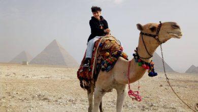 Photo of الطفل المصري ميسرة محمود، صاحب لقب شخصية عام ٢٠٢٠ بالنمسا يزور منطقة اثار الهرم