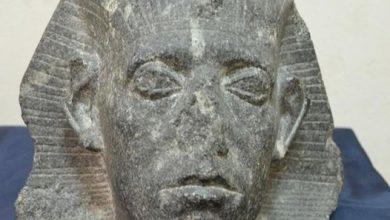 Photo of رأس الملك سنوسرت الثالث قطعة الشهر بالمتحف المصري، احتفالا بعيد الشرطة.