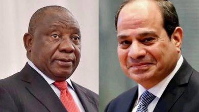 """Photo of """"تلقى السيد الرئيس عبد الفتاح السيسي مساء اليوم اتصالاً هاتفياً من الرئيس سيريل رامافوزا، رئيس جمهورية جنوب أفريقيا"""""""