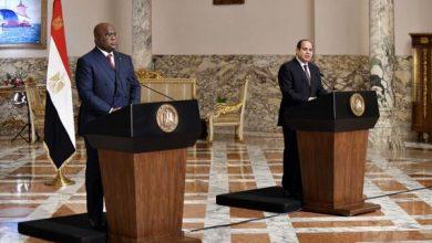 """Photo of """"كلمة السيد الرئيس عبد الفتاح السيسي خلال المؤتمر الصحفي المشترك مع رئيس جمهورية الكونغو الديمقراطية"""""""