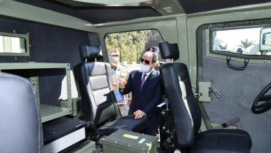 Photo of السيد الرئيس عبد الفتاح السيسي يتفقد عدد من النماذج للمركبات المدرعة بعد تطويرها بواسطة إدارة المركبات بالقوات المسلحة