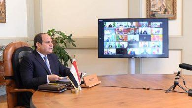 Photo of شارك السيد الرئيس عبد الفتاح السيسي اليوم عبر الفيديو كونفرانس في أعمال الدورة العادية الـ٣٤ لمؤتمر قمة الاتحاد الإفريقي