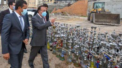Photo of محافظ الاسكندرية يشهد عملية اعدام 2700 شيشة