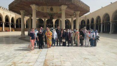 Photo of زيارة زوجات سفراء ٢٠ دولة بالعالم إلى منطقة مجمع الأديان بمصر القديمة