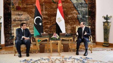 Photo of الرئيس يشدد على دعم مصر الكامل والمطلق للسلطة التنفيذية الجديدة في ليبيا