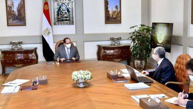 """Photo of """" الرئيس يطلع علي الموقف التنفيذي لنقل الوزارات والهيئات الحكومية إلى العاصمة الإدارية الجديدة""""."""