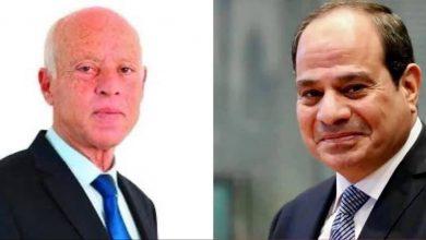 Photo of تلقى السيد الرئيس عبد الفتاح السيسي اليوم اتصالاً هاتفياً من الرئيس قيس سعيد، رئيس الجمهورية التونسية