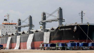 """Photo of نجاح شحن أول سفينة """"كلينكر"""" بحمولة 50 ألف طن من شرق بورسعيد لغرب إفريقيا"""
