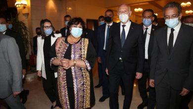 Photo of الرئيس التونسي قيس سعيد يزور دار الأوبرا ووزيرة الثقافة تستقبله
