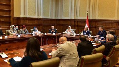 Photo of خلال جلسة مناقشة مشروع قانون المجلس القومي للسكان والتنمية بمجلس الشيوخ