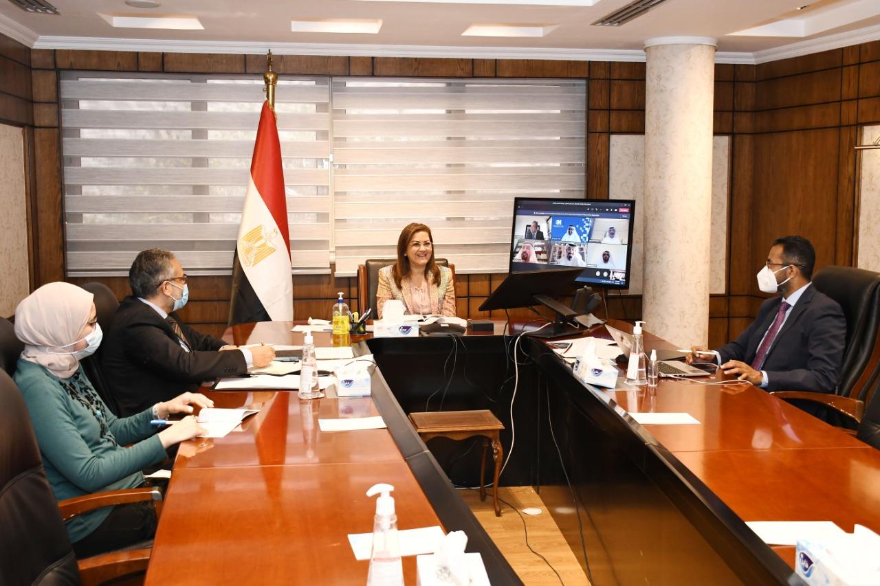 وزيرة التخطيط والتنمية الاقتصادية تجتمع بلجنة تحكيم جائزة مصر للتميز الحكومي دورة 2020-2021