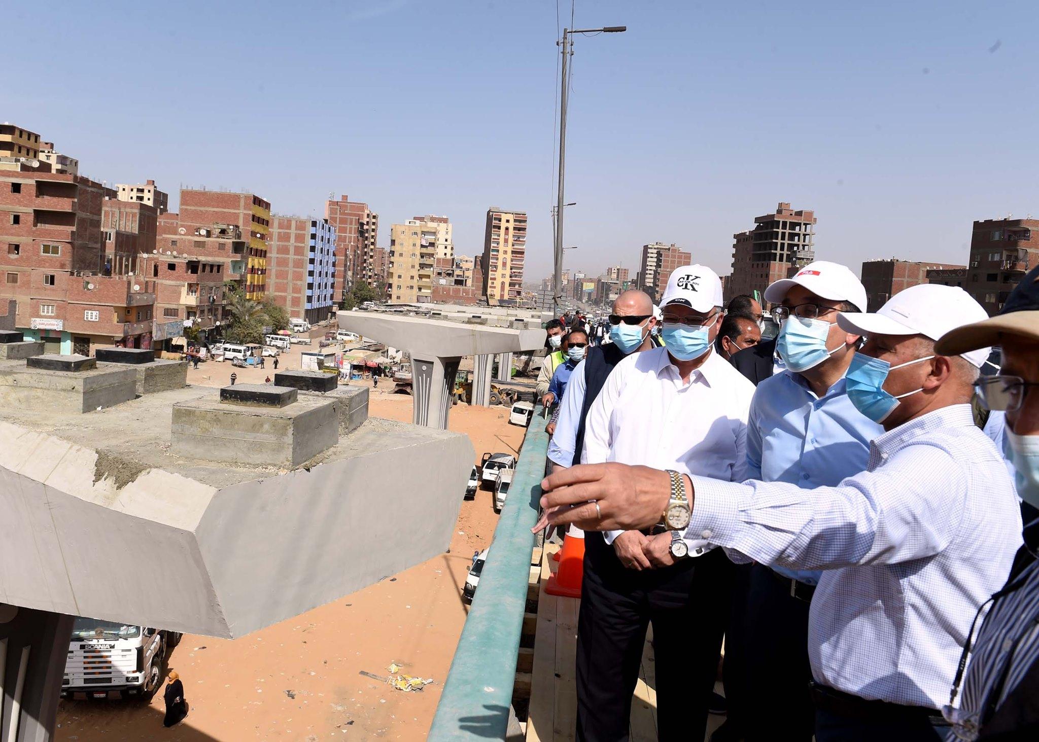 رئيس الوزراء يتفقد مشروع تطوير الطريق الدائري حول القاهرة الكبرى