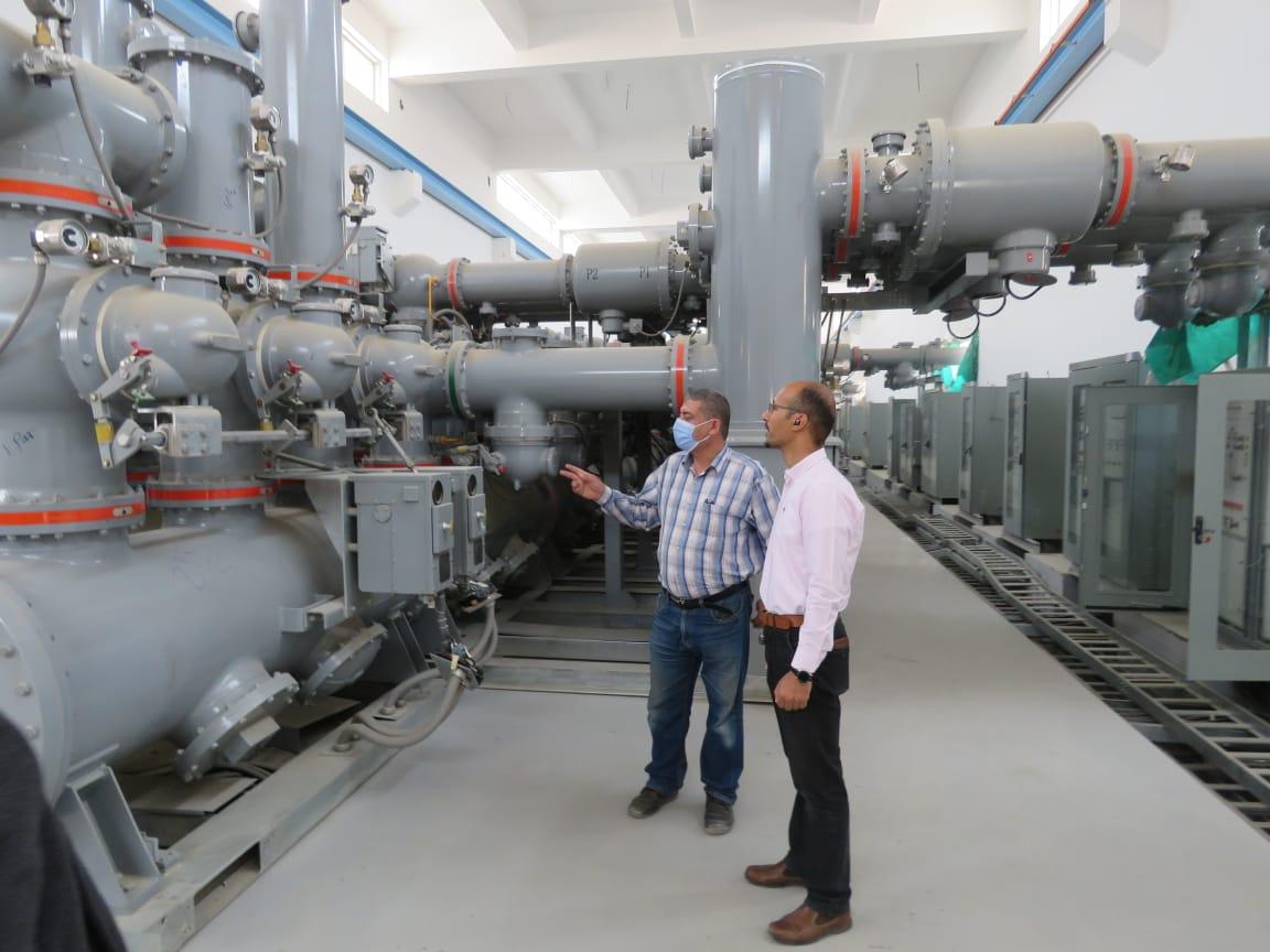"""رئيس جهاز """"العبور"""" يتفقد مشروع محطة محولات كهرباء بقدرة إجمالية ٥٢٥م. ف. أ"""