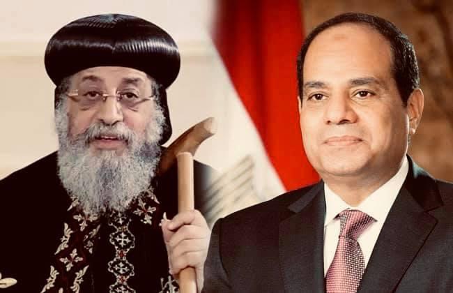 """""""السيد الرئيس عبد الفتاح السيسي يهنئ البابا تواضروس بمناسبة عيد القيامة المجيد"""""""