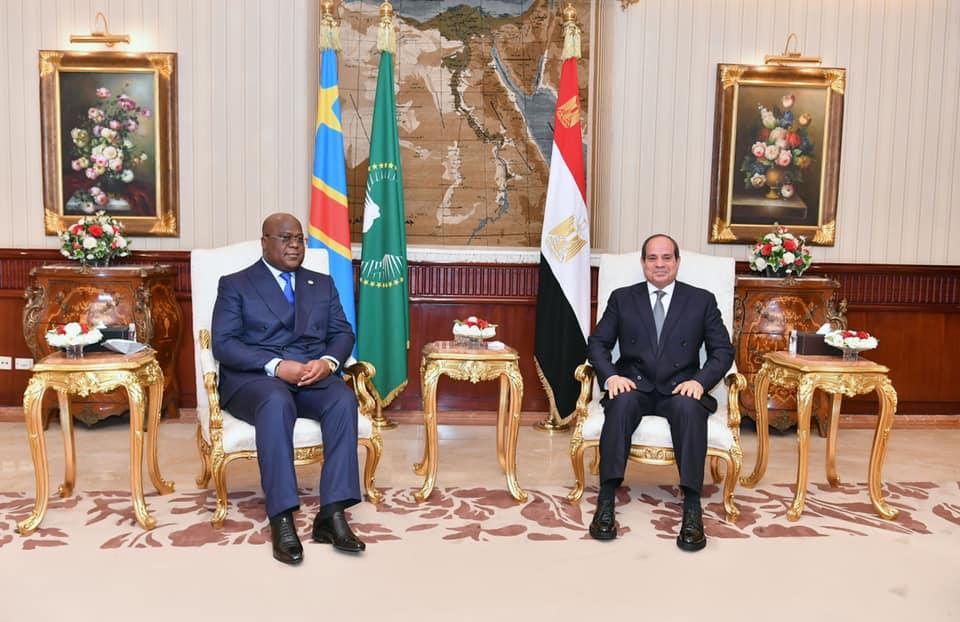 الرئيس يعرب عن تقدير مصر لجهود الرئيس الكونغولي والثقة في قدرته للتعامل مع ملف سد النهضة