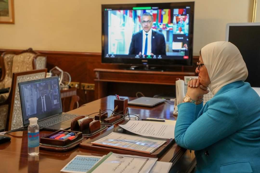"""وزيرة الصحة تشارك في الحوار  الدولي حول """"مبادرة النظم الصحية المرنة للمناخ"""""""