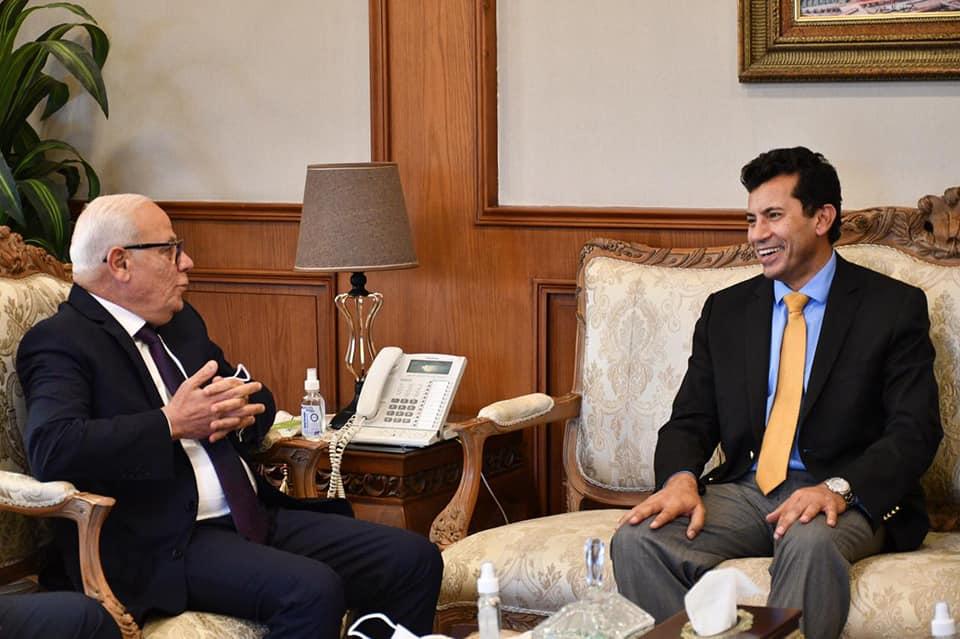 وزير الرياضة ومحافظ بورسعيد يقومان بجولة تفقدية المنشآت الشبابية والرياضية ببورسعيد