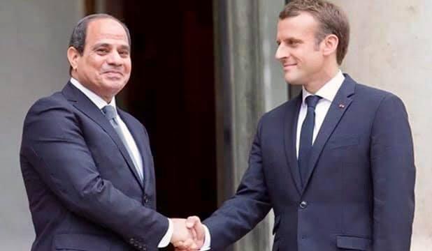 التقى السيد الرئيس عبد الفتاح السيسى اليوم مع الرئيس الفرنسي إيمانويل ماكرون بقصر الإليزيه في العاصمة الفرنسية باريس