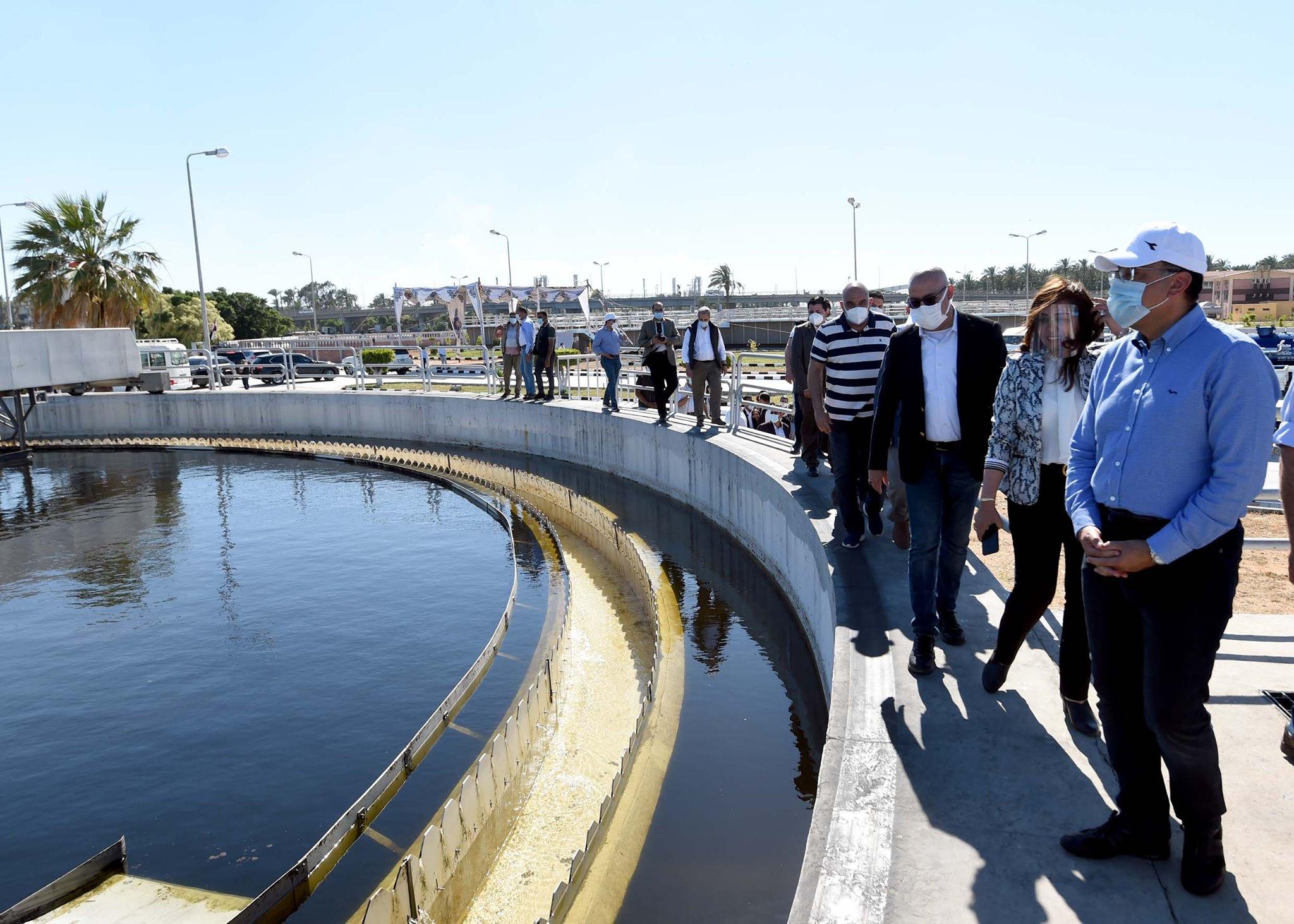 رئيس الوزراء يتفقد مشروع توسعات محطة معالجة صرف صحي رأس البر بتكلفة ٢٤٠ مليون جنيه