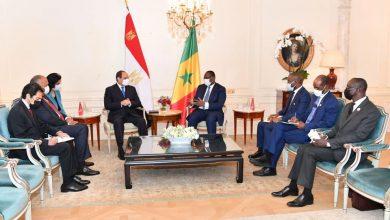 """Photo of التقى السيد الرئيس عبد الفتاح السيسي اليوم في العاصمة الفرنسية باريس مع الرئيس السنغالي """"ماكي سال"""""""