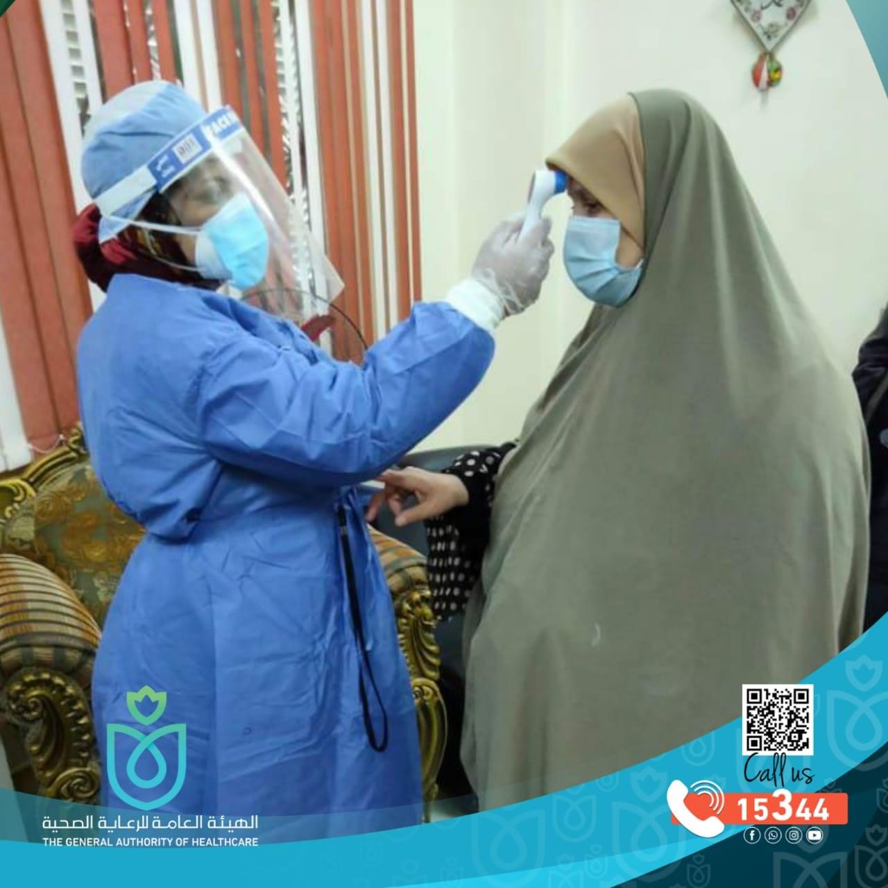 الهيئة العامة للرعاية الصحية تعلن تنفيذ 3600 زيارة منزلية للمعزولين منزليًا ببورسعيد