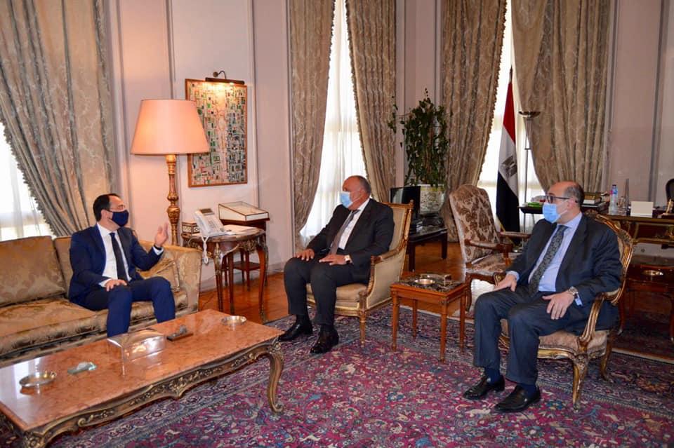 الوزير سامح شكري يستقبل وزير خارجية قبرص في القاهرة للتشاور بشأن عدد من موضوعات التعاون الثنائي وكذا القضايا الإقليمية ذات الاهتمام المُتبادل