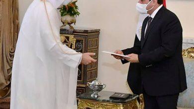 Photo of الرئيس عبد الفتاح السيسي يتلقي رسالة خطية من امير قطر نقلها وزير الخارجية القطري
