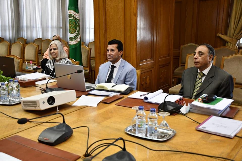 أشرف صبحى يترأس اجتماع المكتب التنفيذي لمجلس وزراء الشباب والرياضة العرب