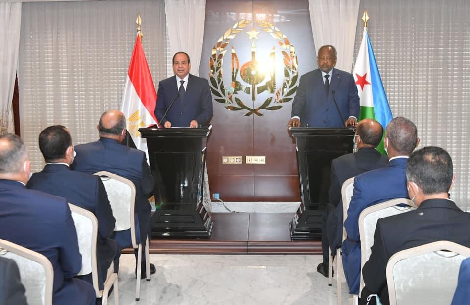 كلمة السيد الرئيس عبد الفتاح السيسي خلال المؤتمر الصحفي المشترك مع السيد إسماعيل عمر جيلة رئيس جمهورية جيبوتي