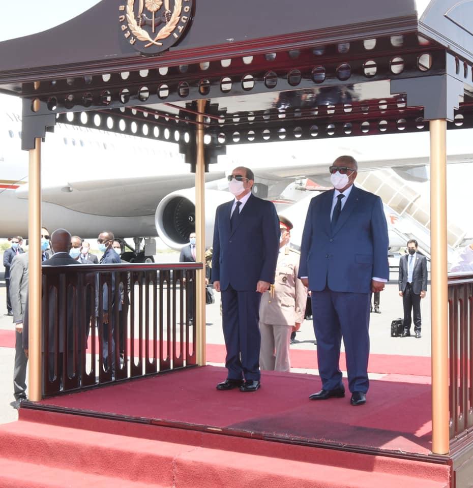 وصل السيد الرئيس عبد الفتاح السيسي صباح اليوم إلى جيبوتي
