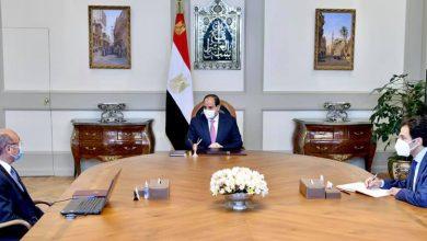 Photo of اجتمع السيد الرئيس عبد الفتاح السيسي اليوم مع المستشار عمر مروان وزير العدل