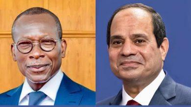 Photo of أجرى السيد الرئيس عبد الفتاح السيسي اليوم اتصالاً هاتفياً مع الرئيس باتريس تالون، رئيس جمهورية بنين