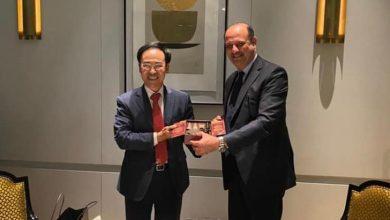 Photo of السفير المصري في سول يلتقي المدير التنفيذي ورئيس مجموعة شركات هيونداي روتام الكورية