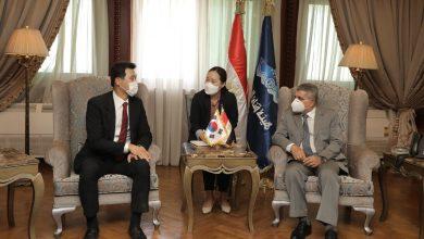 Photo of الفريق أسامة ربيع يستقبل السفير الكوري الجنوبي لبحث سبل التعاون المشترك في تطوير الترسانات والبنية التحتية