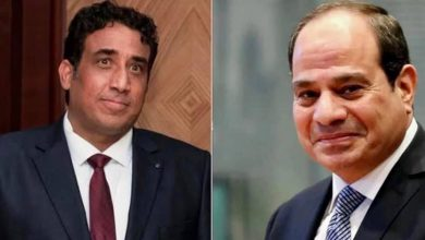 """Photo of """"أجرى السيد الرئيس عبد الفتاح السيسي اليوم اتصالاً هاتفياً مع السيد محمد المنفي، رئيس المجلس الرئاسي الليبي"""""""