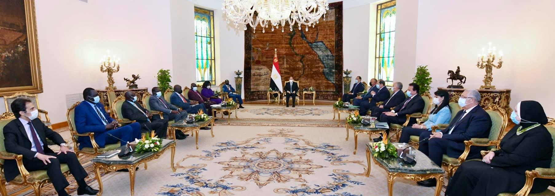 استقبل السيد الرئيس عبد الفتاح السيسي اليوم الدكتور جيمس واني إيجا